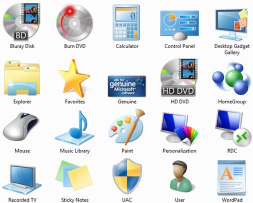 Microsoft Windows 7 Icon Pack