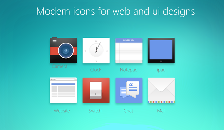 7 Modern Web Icons Images