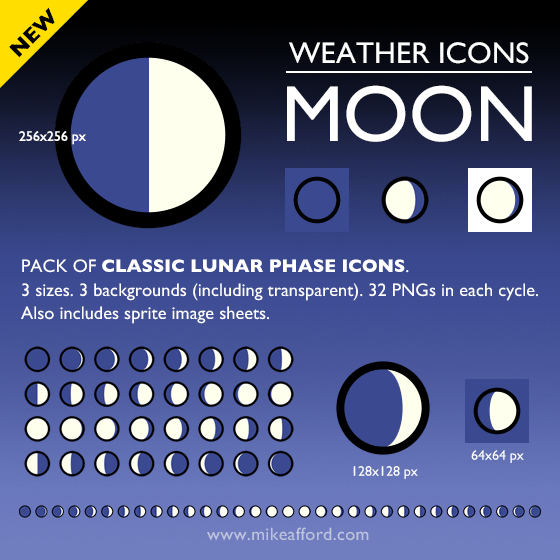 10 Transparent Moon Icon Images