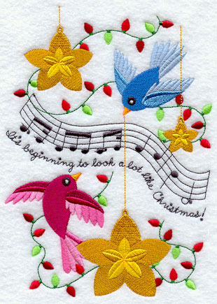 Music Christmas Machine Embroidery Designs