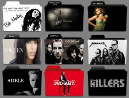 17 Music Artist Folder Icons Images