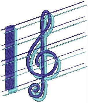 Music Machine Embroidery Design