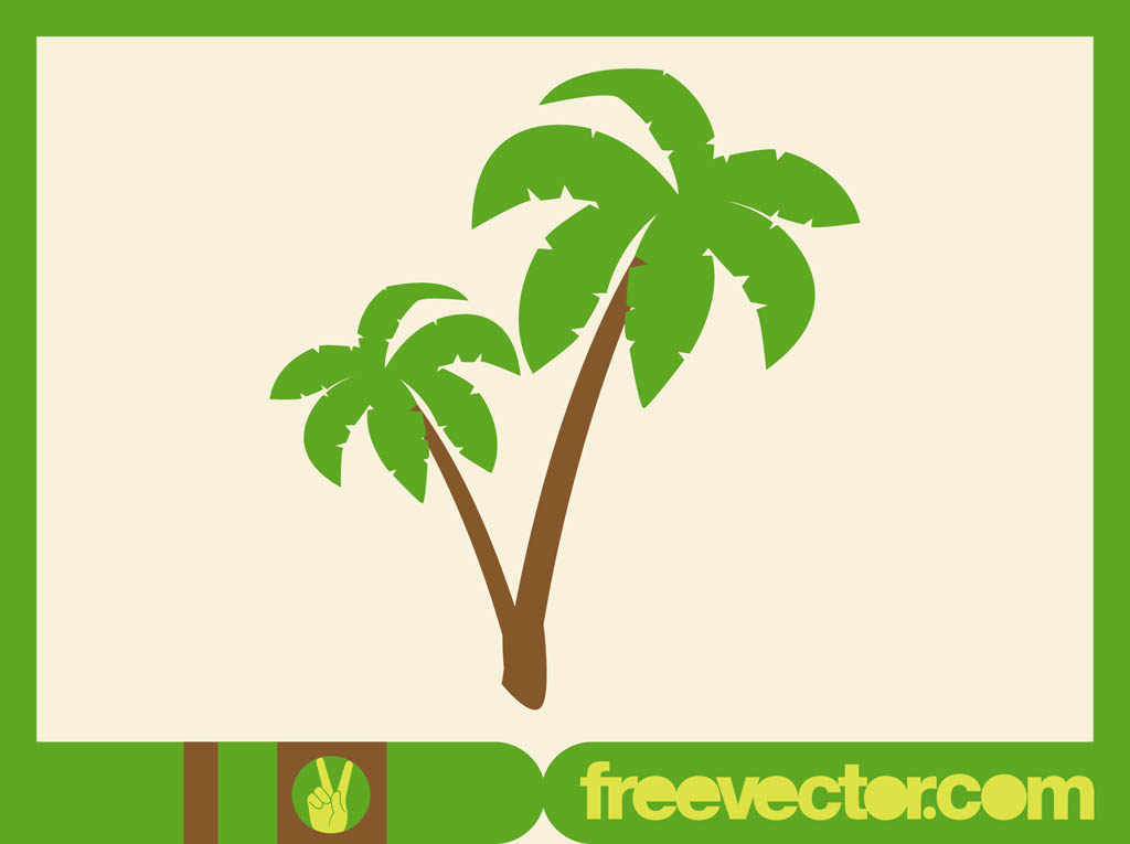 14 Vector Palm Tree Leaves Images