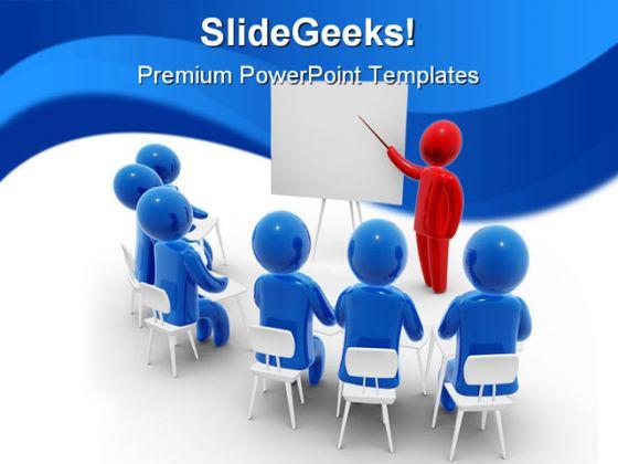 People Meeting PowerPoint Template