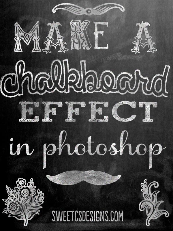 Photoshop Chalkboard Effect