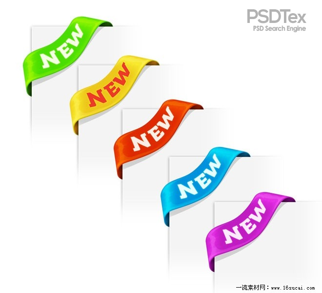 PSD Corner Ribbons