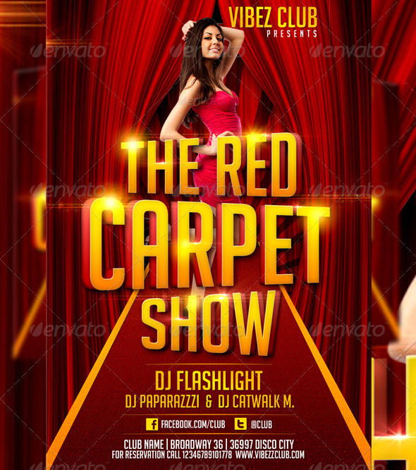13 Red Carpet Flyer PSD Images