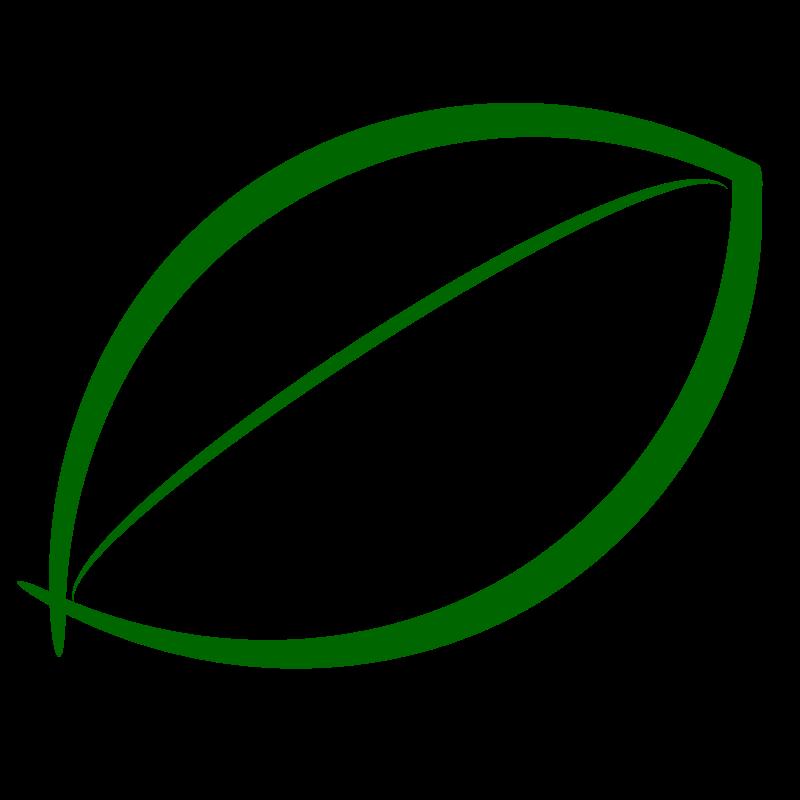 Small Green Leaf Icon