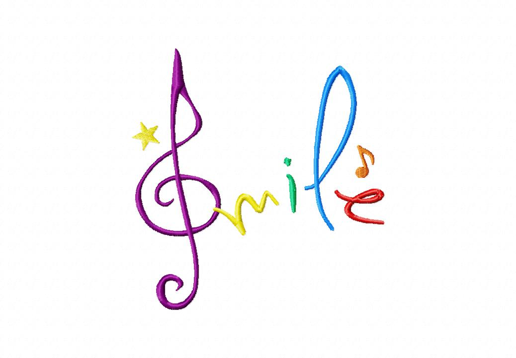 Smile Machine Embroidery Design