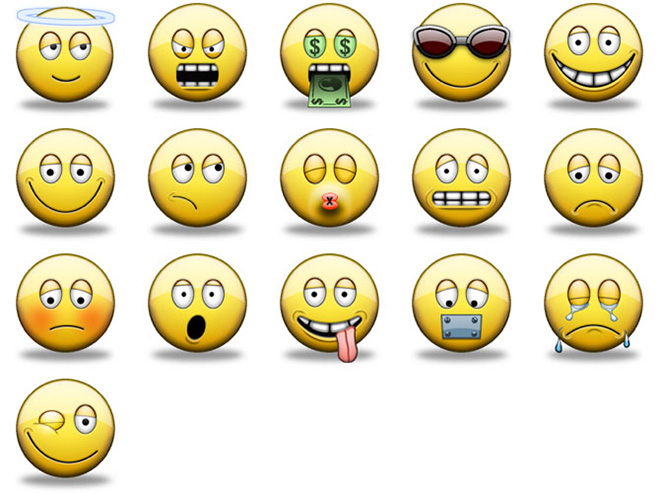 18 Smiley-Face Icons Emoticons Images