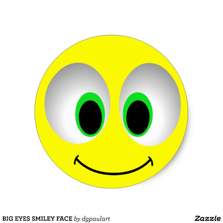 Smiley Face with Big Eyes