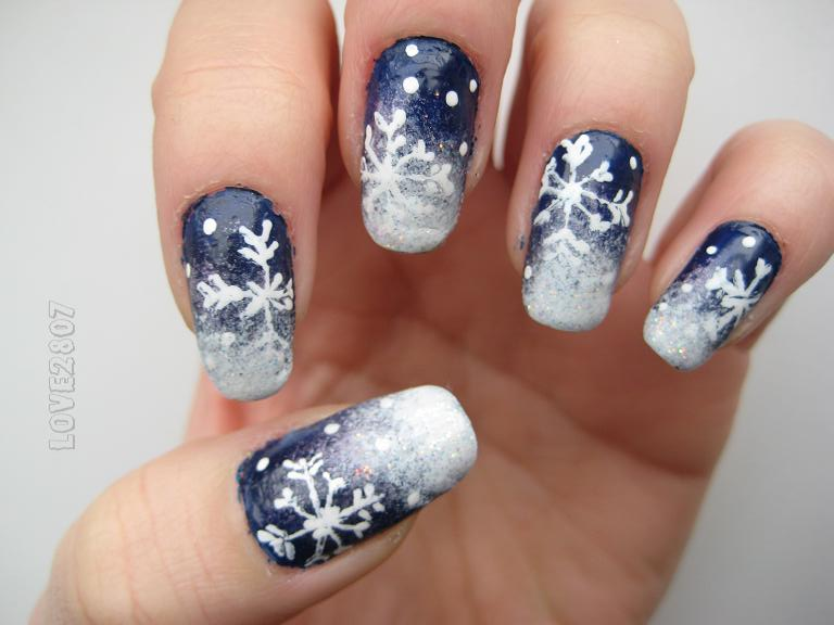 12 Snowflake Nail Designs Images