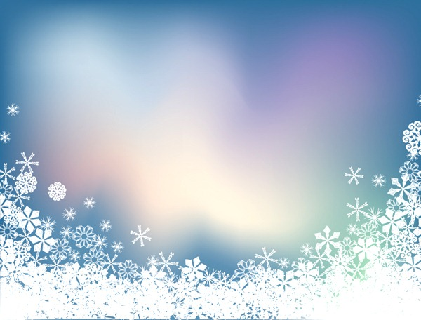 Snowflake Winter Facebook Cover