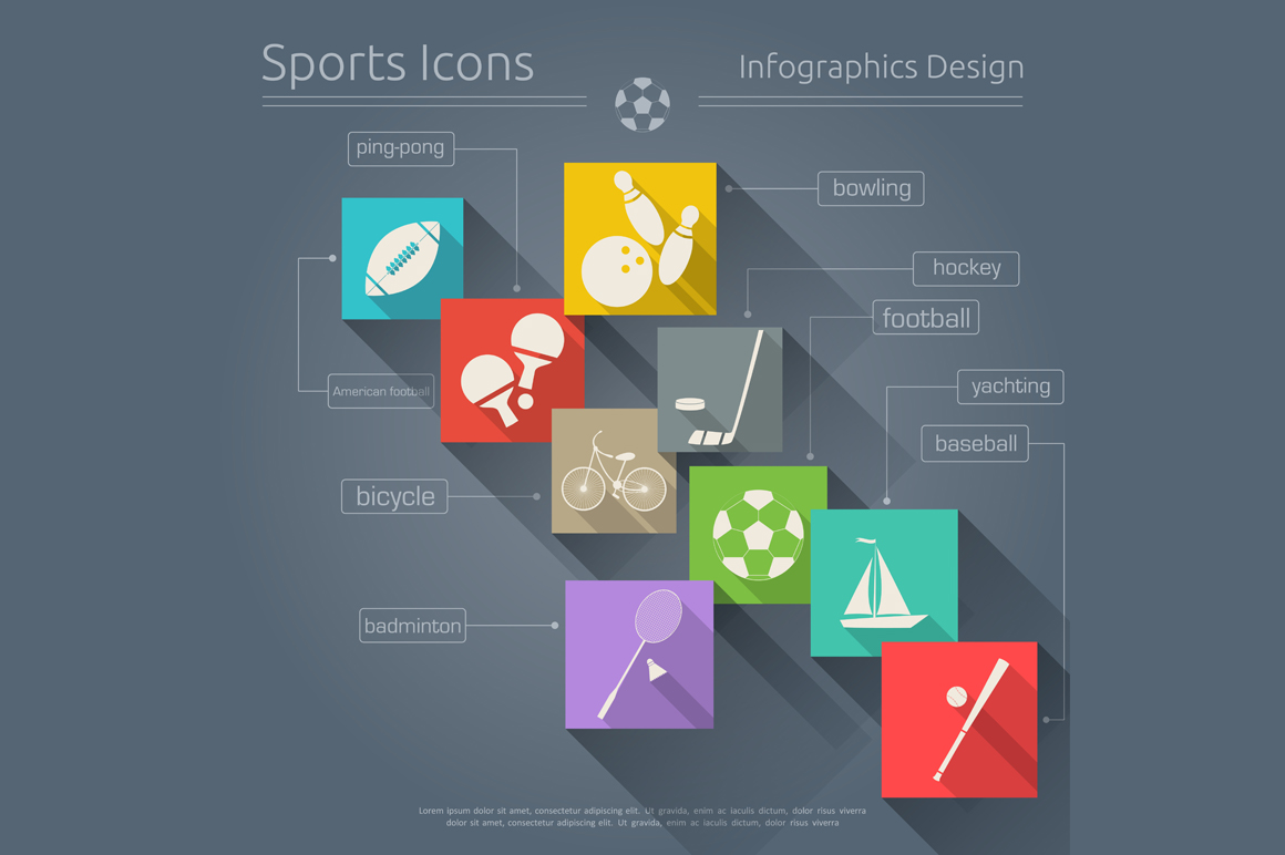Sports Icons Flat
