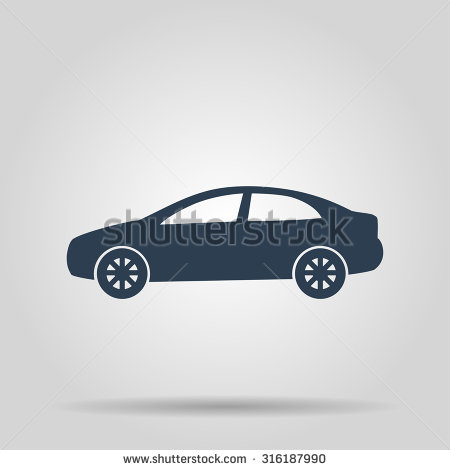 Stock Car Vector Icon