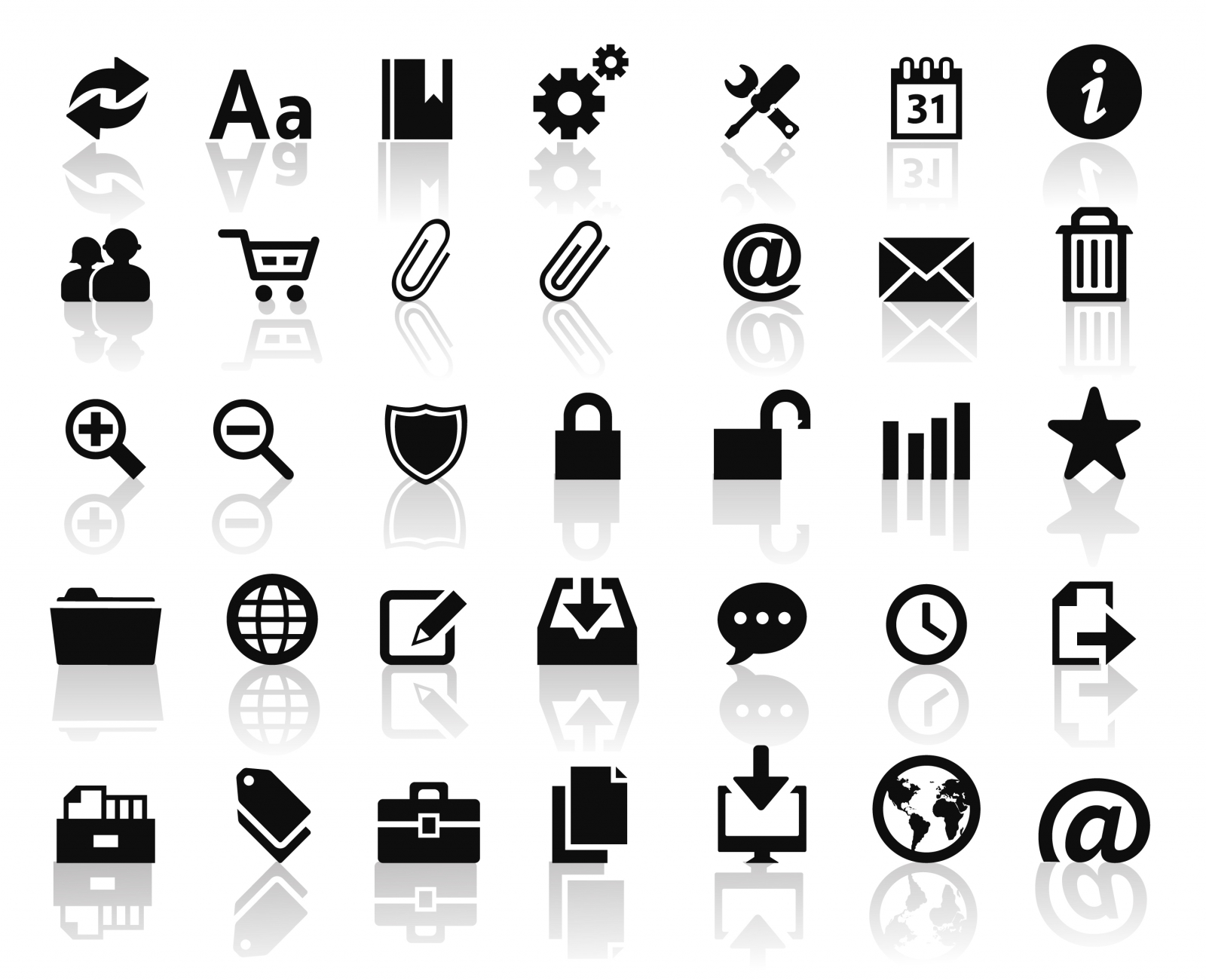 Technology Web Icons Vector Free