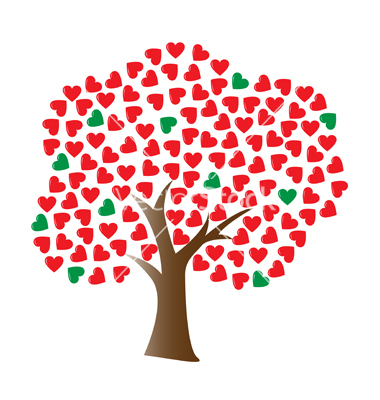 Tree with Heart Shaped Leaf