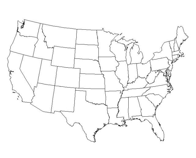 Map Usa States Quiz Images Central America Worksheets: America Blank Map At Usa Maps