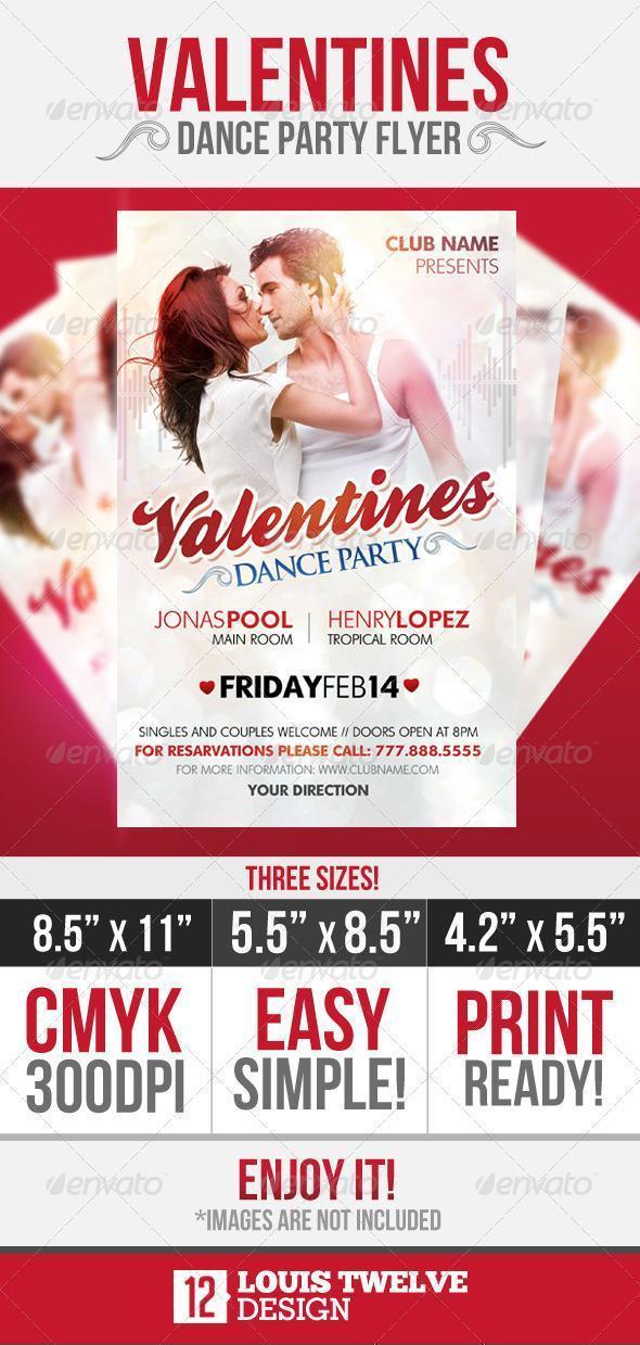 Valentine Dance Flyer Template