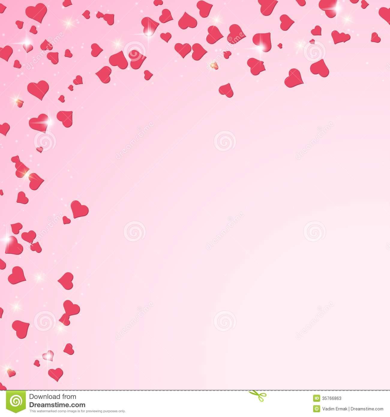 Valentine's Day Pink Hearts