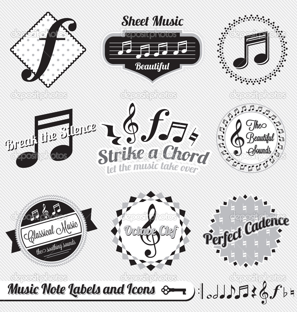 12 Free Vintage Music Vector Images