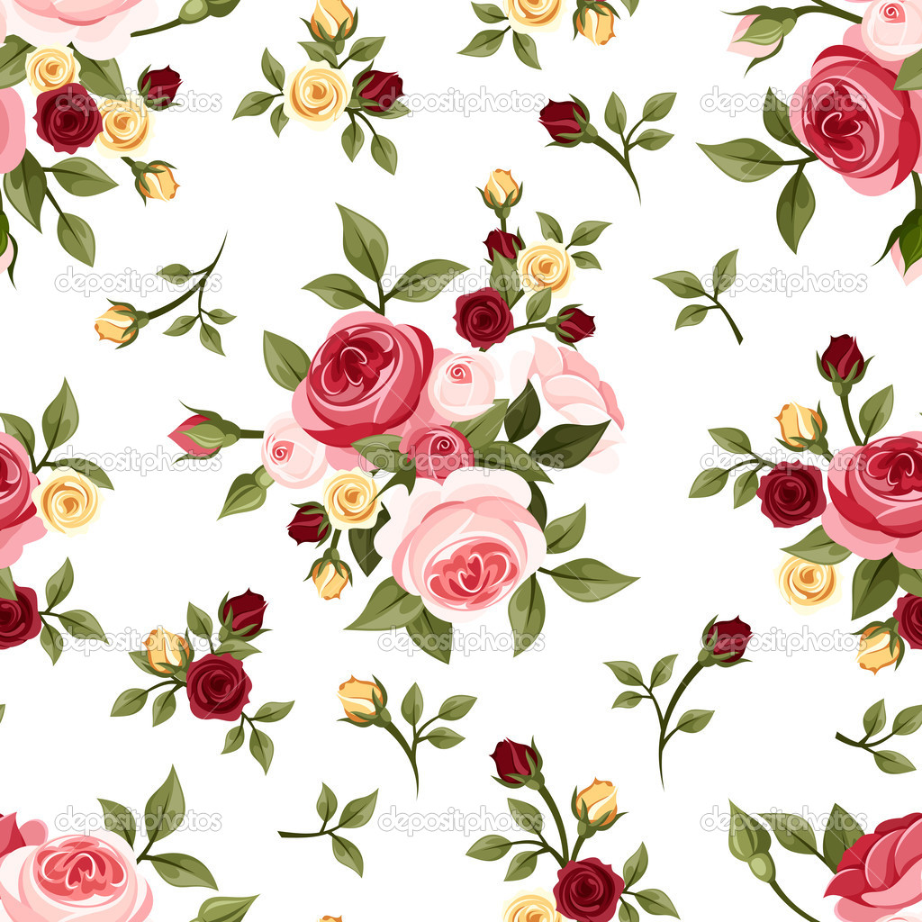 Vintage Rose Pattern Vectors