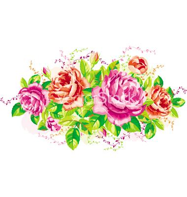 Vintage Rose Vector Free