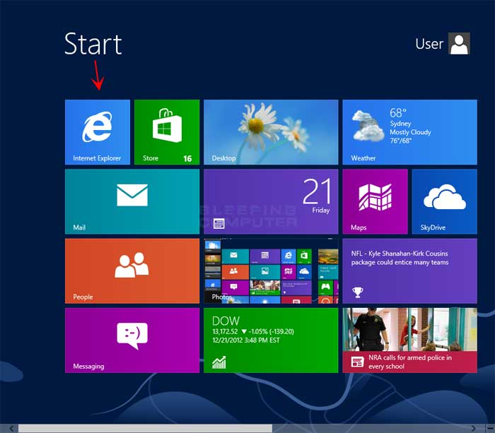 how to start ie in windows 10