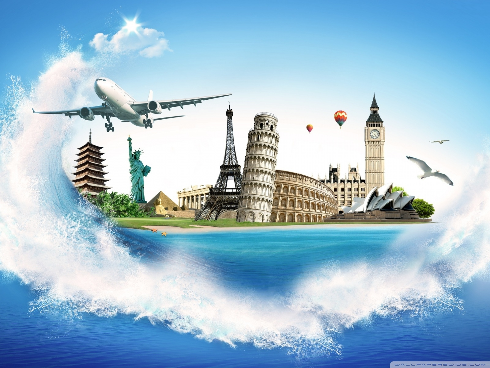 World Travel Desktop Background