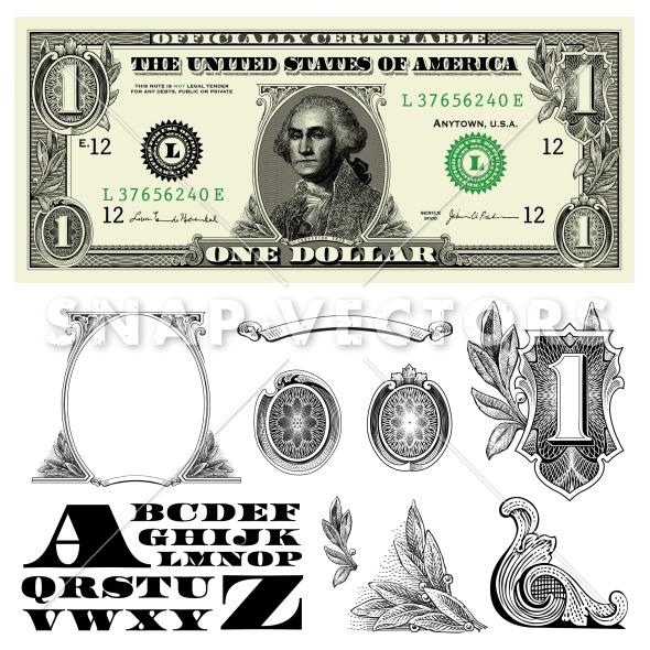 100 Dollar Bill Vector Art