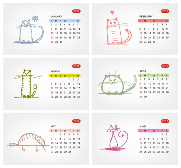 18 Free Calendar Templates Vector Images
