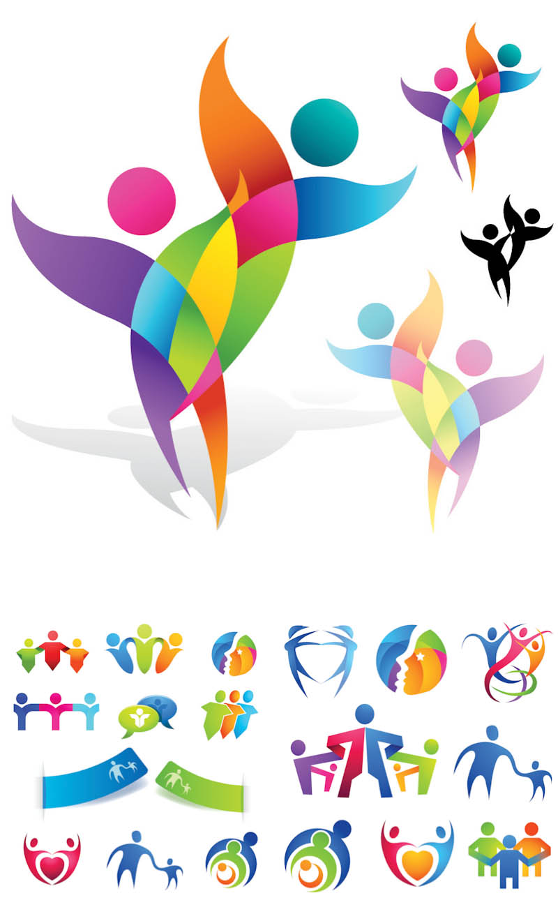 Abstract People Logos