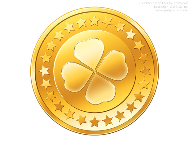 13 PSD Gold Coins Images
