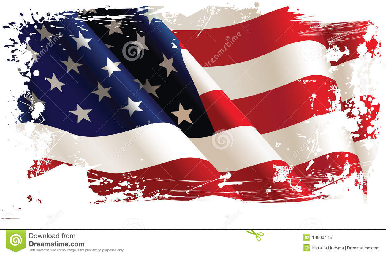 6 Torn American Flag Vector Images