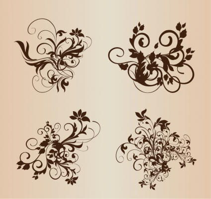 Baroque Floral Ornament Vector