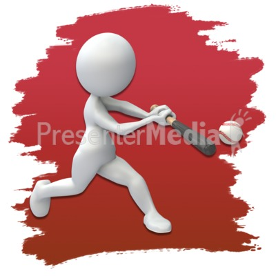 Baseball Stick Figure Clip Art