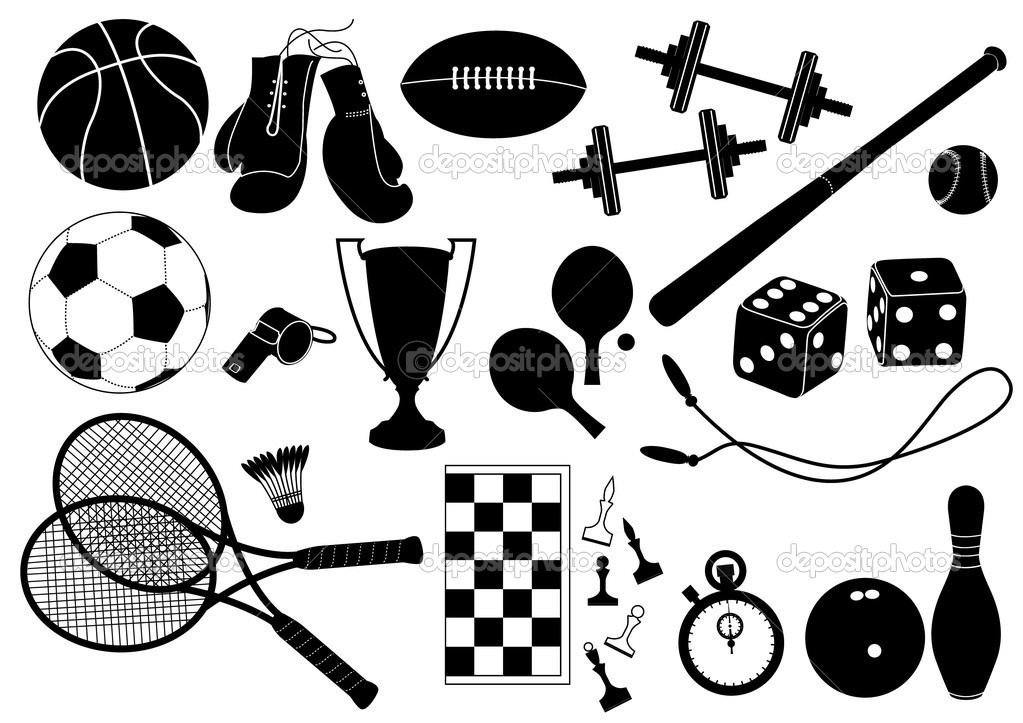 Black and White Sports Equipment