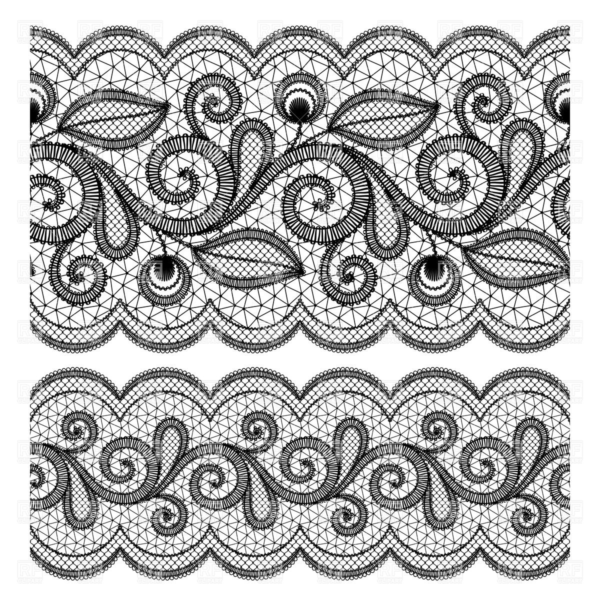 13 Lace Border Vector Images