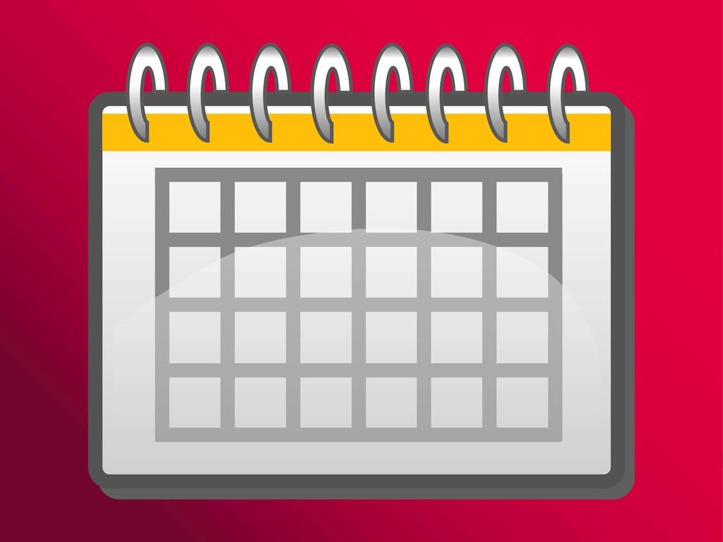 Weekly Calendar Clipart : Free calendar templates vector images