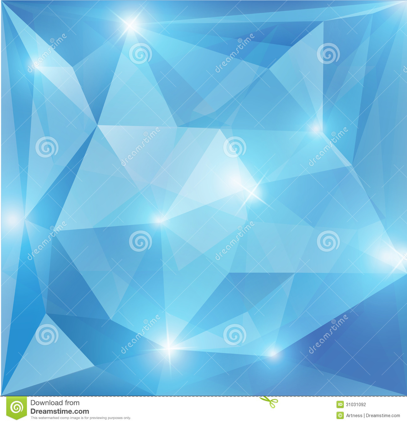 Blue Abstract Geometric Shape
