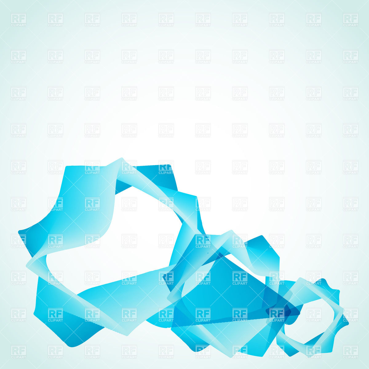 Blue Abstract Shape Vector