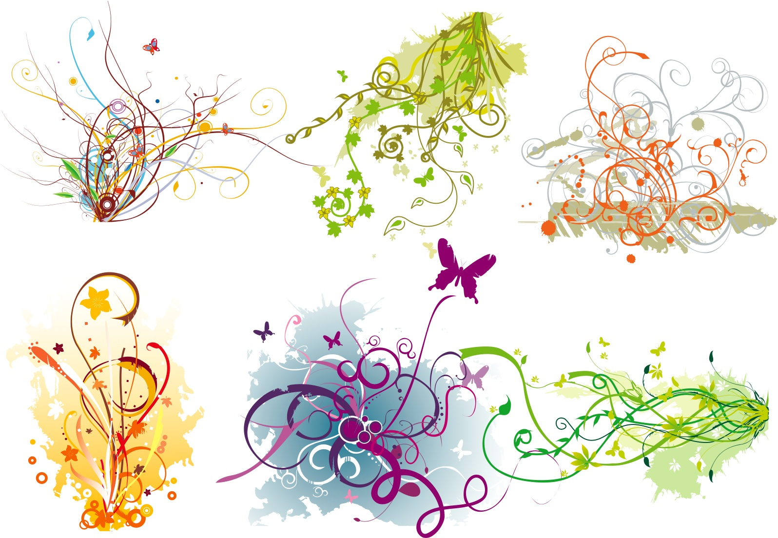 15 Vector Flourish Clutter Designs Images
