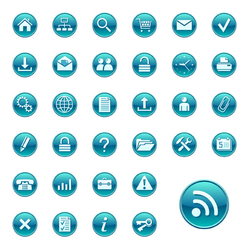 Blue Circle Icon Vector