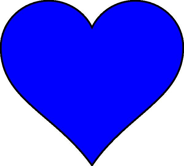 Blue Heart Shape Clip Art