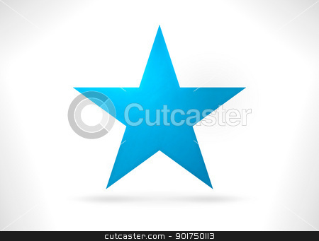 Blue Star Shape