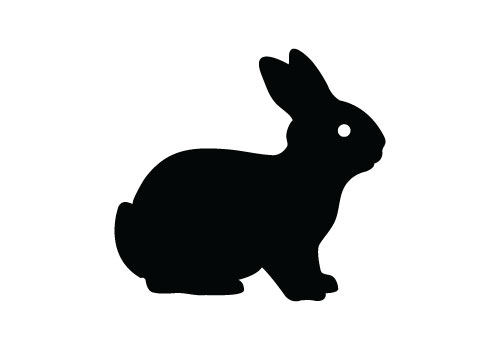15 Easter Bunny Silhouette Vector Images