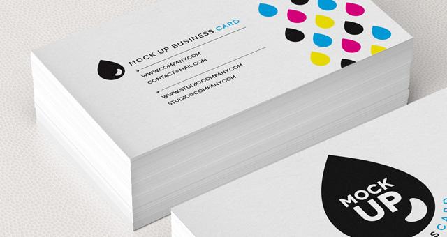 Business Card Mock Up Template PSD