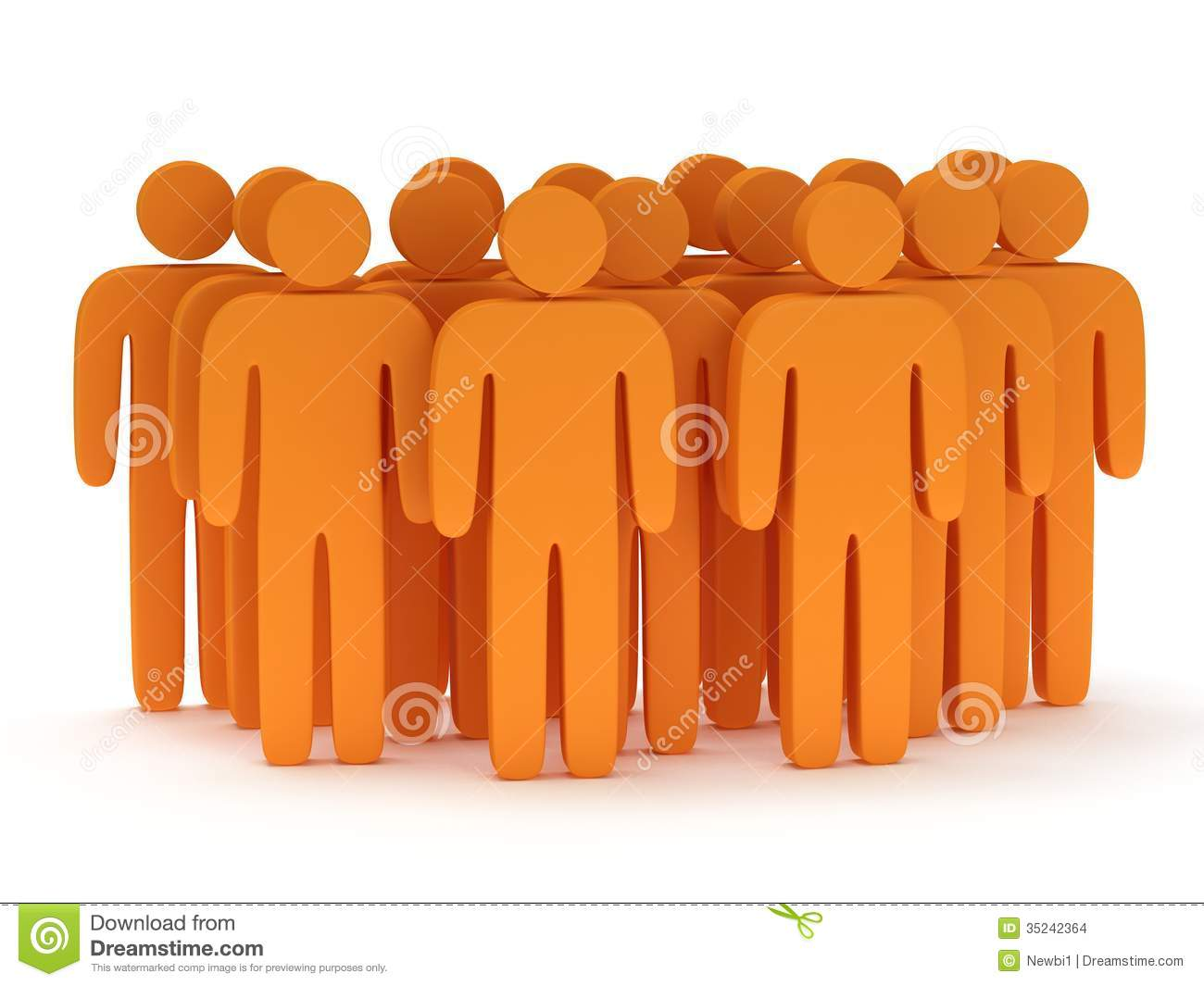 Business People Icon Orange