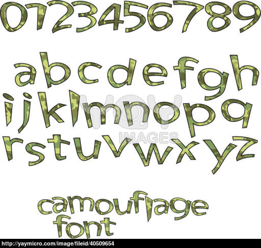 Camouflage Letters Font