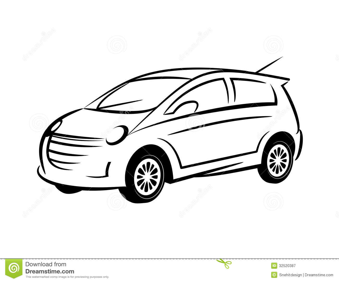 Line Drawing Vehicles : Sports car vector line art images sport